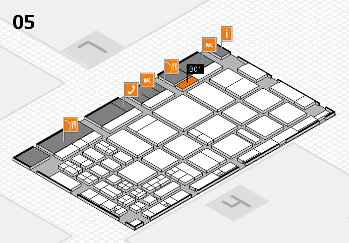 CARAVAN SALON 2016 hall map (Hall 5): stand B01