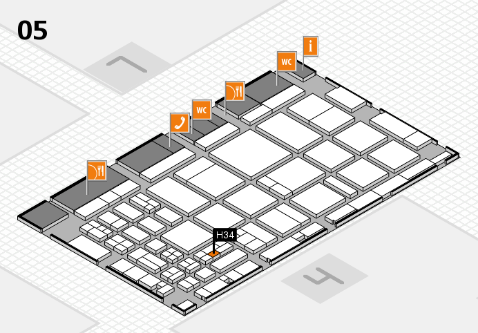 CARAVAN SALON 2016 hall map (Hall 5): stand H34
