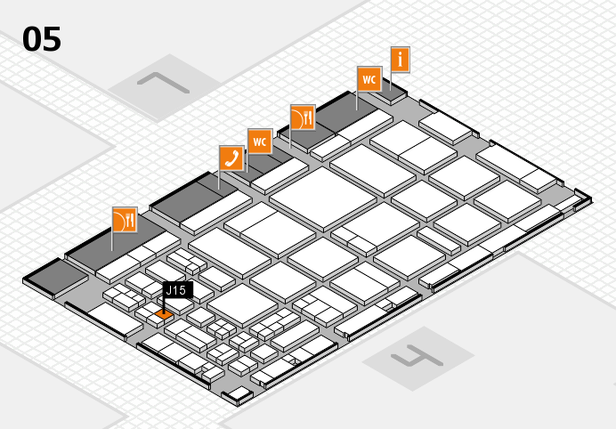 CARAVAN SALON 2016 hall map (Hall 5): stand J15