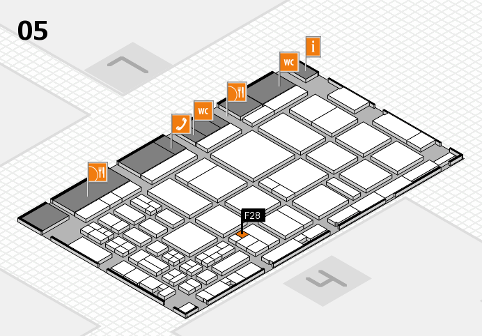 CARAVAN SALON 2016 hall map (Hall 5): stand F28