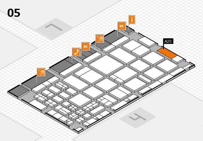 CARAVAN SALON 2016 Hallenplan (Halle 5): Stand A20