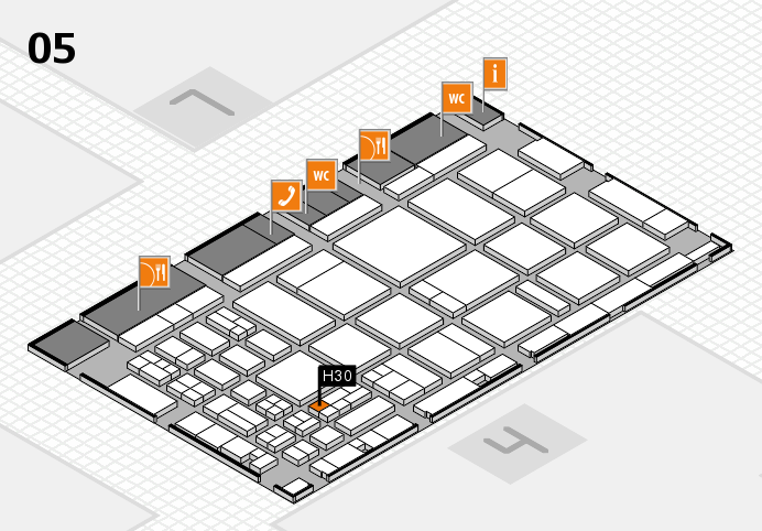 CARAVAN SALON 2016 hall map (Hall 5): stand H30