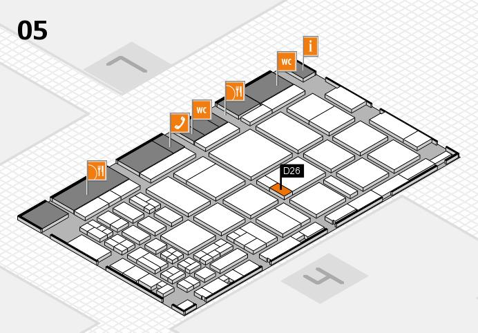 CARAVAN SALON 2016 hall map (Hall 5): stand D26