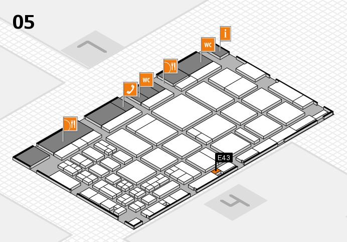 CARAVAN SALON 2016 hall map (Hall 5): stand E43