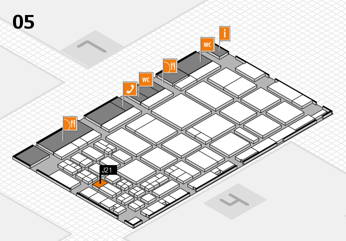 CARAVAN SALON 2016 hall map (Hall 5): stand J21