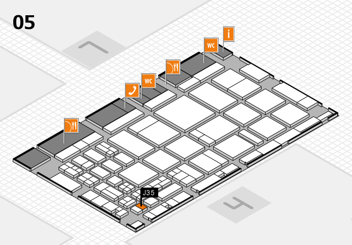 CARAVAN SALON 2016 hall map (Hall 5): stand J35