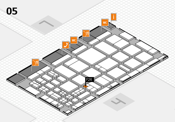 CARAVAN SALON 2016 hall map (Hall 5): stand F26