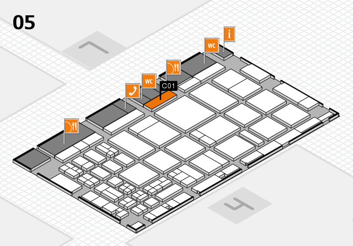 CARAVAN SALON 2016 hall map (Hall 5): stand C01