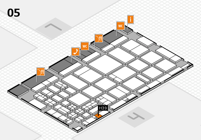 CARAVAN SALON 2016 hall map (Hall 5): stand H39