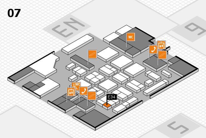 CARAVAN SALON 2016 hall map (Hall 7): stand E34