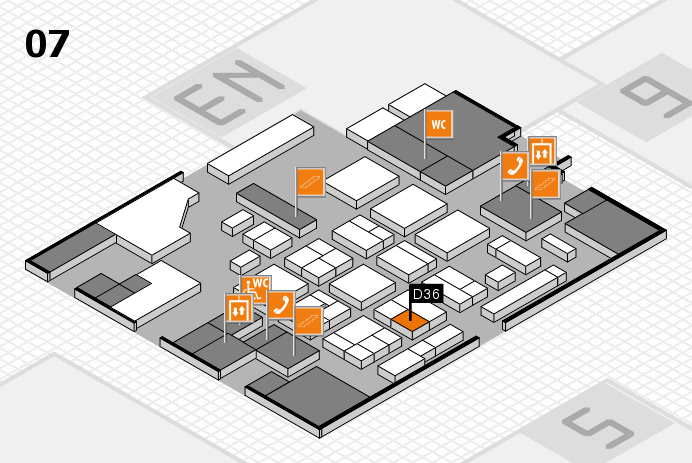 CARAVAN SALON 2016 hall map (Hall 7): stand D36