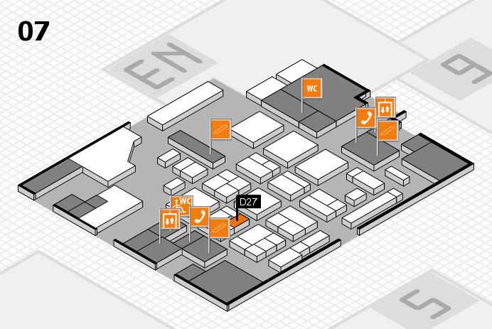 CARAVAN SALON 2016 hall map (Hall 7): stand D27