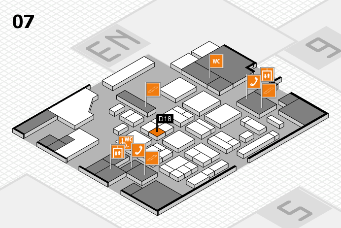 CARAVAN SALON 2016 hall map (Hall 7): stand D18