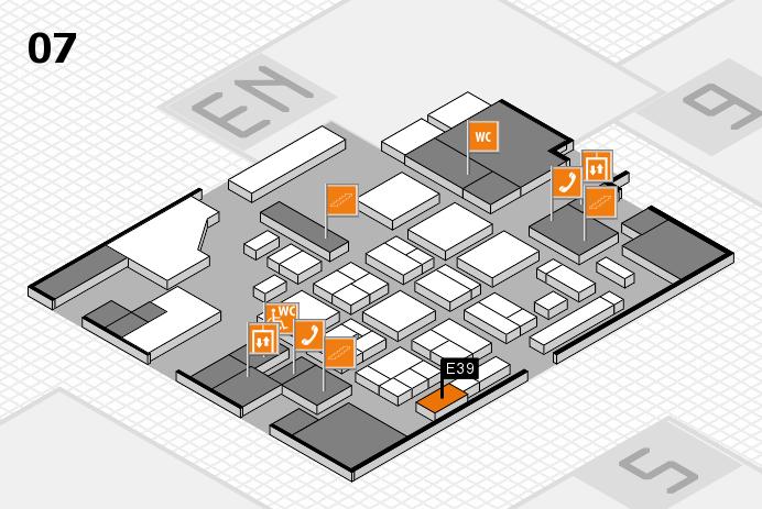CARAVAN SALON 2016 hall map (Hall 7): stand E39