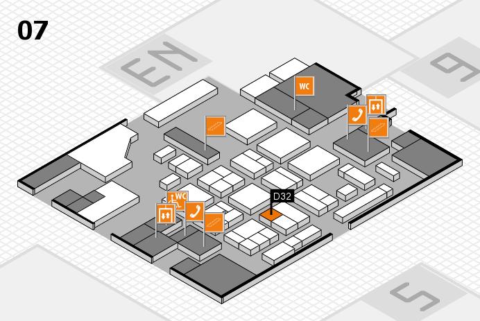 CARAVAN SALON 2016 hall map (Hall 7): stand D32