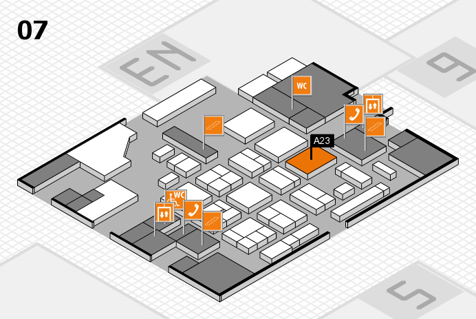 CARAVAN SALON 2016 hall map (Hall 7): stand A23