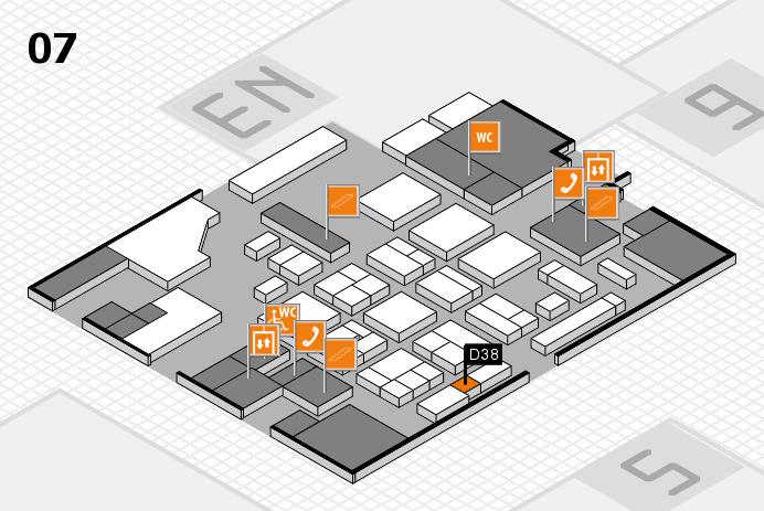 CARAVAN SALON 2016 hall map (Hall 7): stand D38