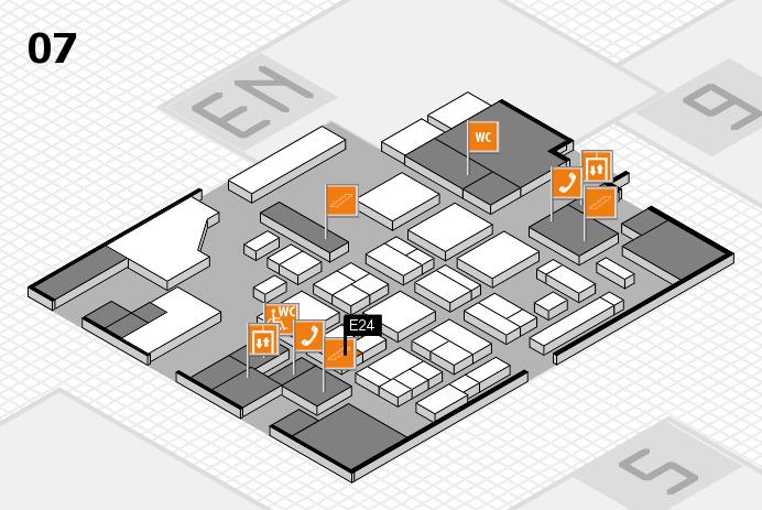 CARAVAN SALON 2016 hall map (Hall 7): stand E24
