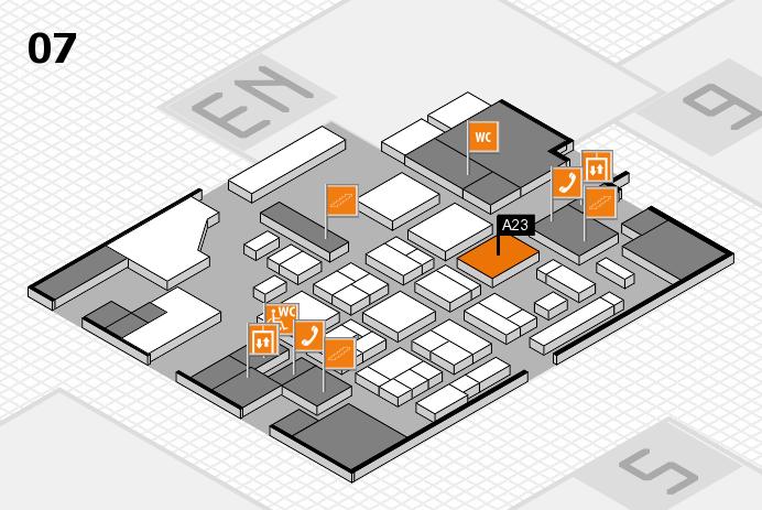 CARAVAN SALON 2016 hall map (Hall 7): stand A23