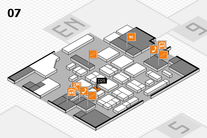 CARAVAN SALON 2016 hall map (Hall 7): stand D25