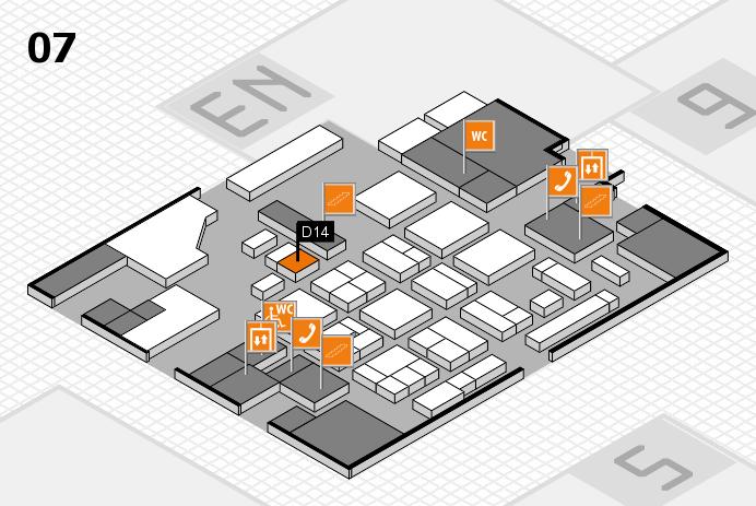 CARAVAN SALON 2016 hall map (Hall 7): stand D14