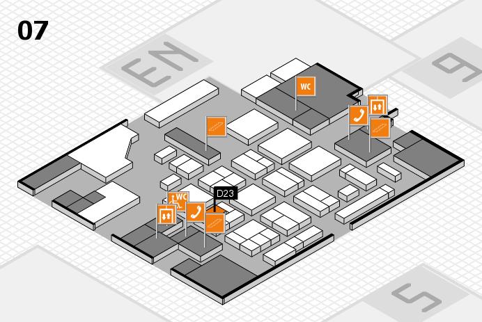 CARAVAN SALON 2016 hall map (Hall 7): stand D23