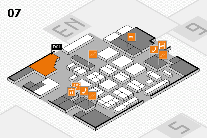 CARAVAN SALON 2016 hall map (Hall 7): stand D01