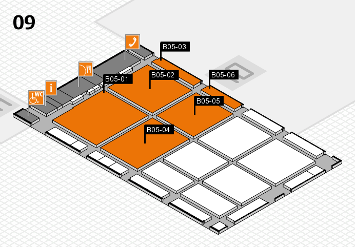 CARAVAN SALON 2016 hall map (Hall 9): stand B05-01, stand B05-06