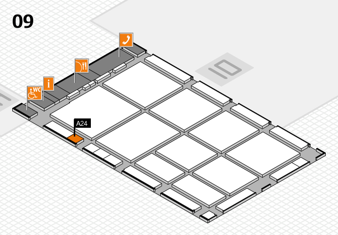 CARAVAN SALON 2016 hall map (Hall 9): stand A24