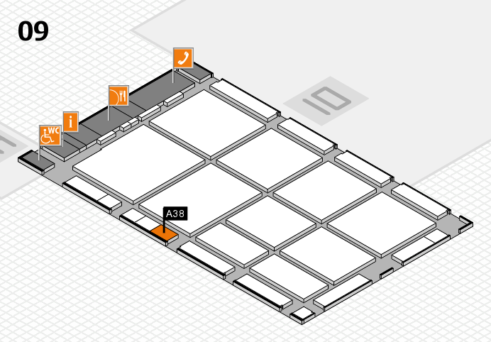 CARAVAN SALON 2016 hall map (Hall 9): stand A38