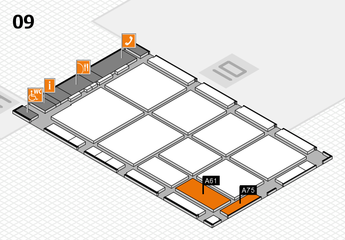 CARAVAN SALON 2016 hall map (Hall 9): stand A61, stand A75