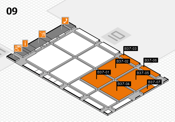 CARAVAN SALON 2016 hall map (Hall 9): stand B37-01, stand B37-07