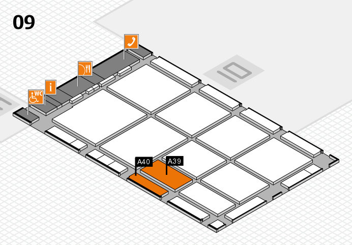 CARAVAN SALON 2016 hall map (Hall 9): stand A39, stand A40