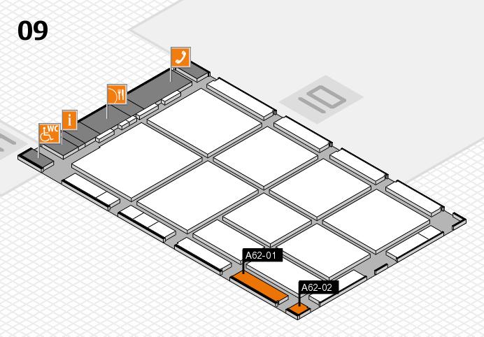 CARAVAN SALON 2016 hall map (Hall 9): stand A62-01, stand A62-02