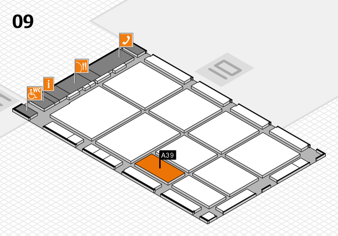 CARAVAN SALON 2016 hall map (Hall 9): stand A39