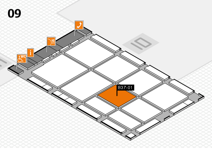 CARAVAN SALON 2016 hall map (Hall 9): stand B37-01