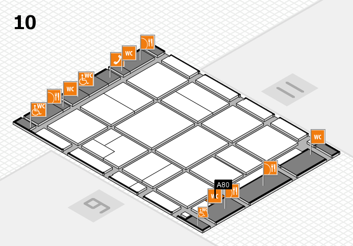 CARAVAN SALON 2016 hall map (Hall 10): stand A80