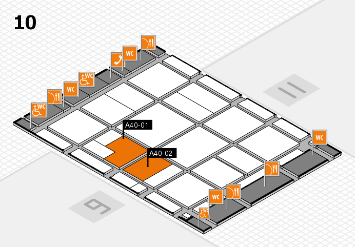 CARAVAN SALON 2016 hall map (Hall 10): stand A40-01, stand A40-02