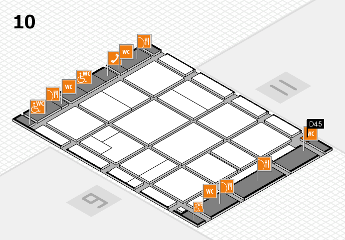 CARAVAN SALON 2016 hall map (Hall 10): stand D45