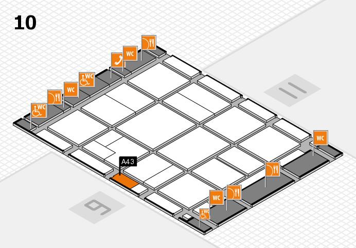 CARAVAN SALON 2016 Hallenplan (Halle 10): Stand A43