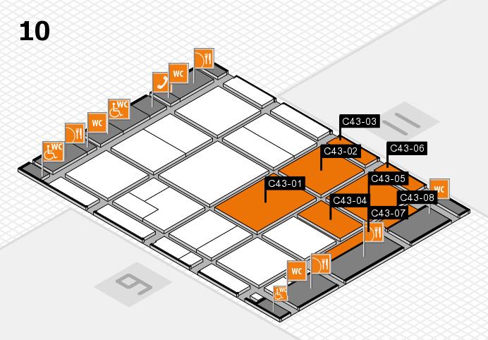 CARAVAN SALON 2016 hall map (Hall 10): stand C43-01, stand C43-08