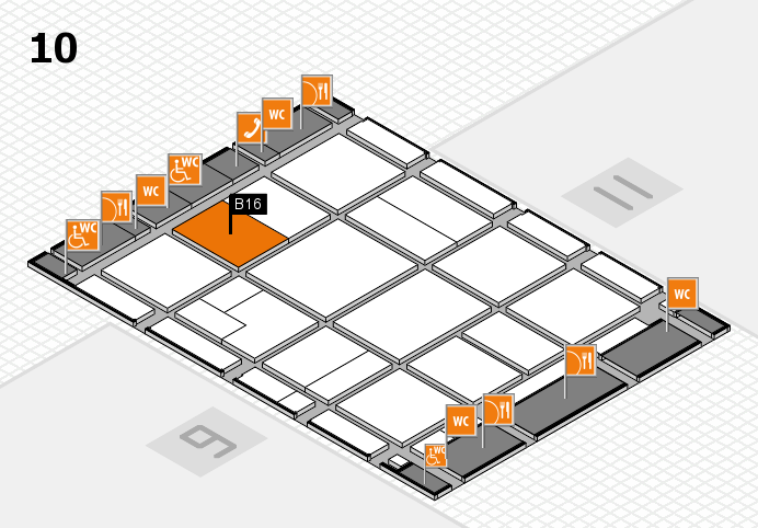 CARAVAN SALON 2016 hall map (Hall 10): stand B16