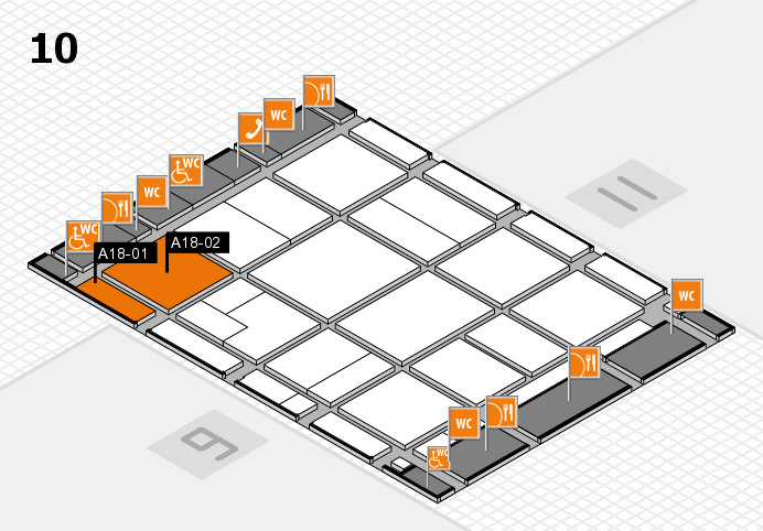 CARAVAN SALON 2016 hall map (Hall 10): stand A18-01, stand A18-02