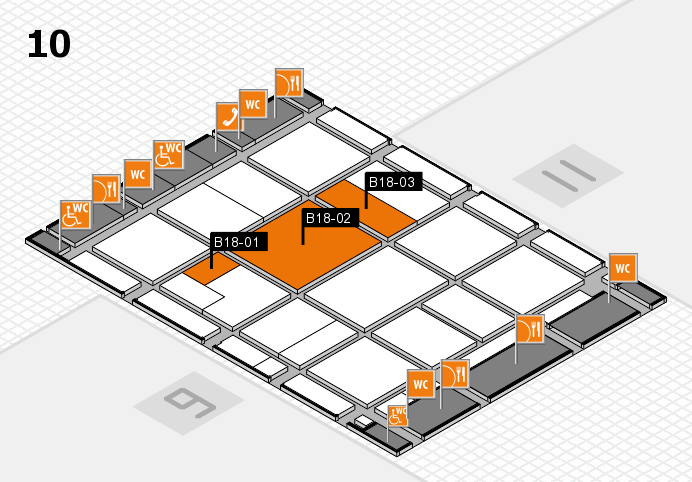 CARAVAN SALON 2016 hall map (Hall 10): stand B18-01, stand B18-03