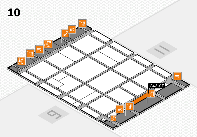 CARAVAN SALON 2016 hall map (Hall 10): stand C43-07