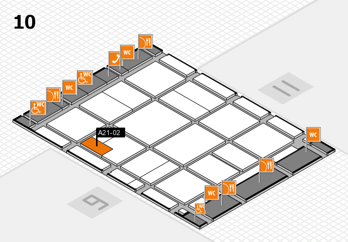 CARAVAN SALON 2016 hall map (Hall 10): stand A21-02