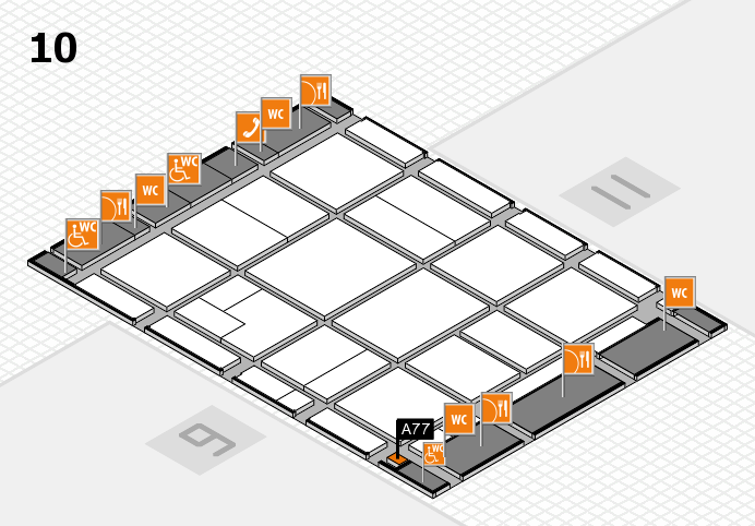 CARAVAN SALON 2016 hall map (Hall 10): stand A77