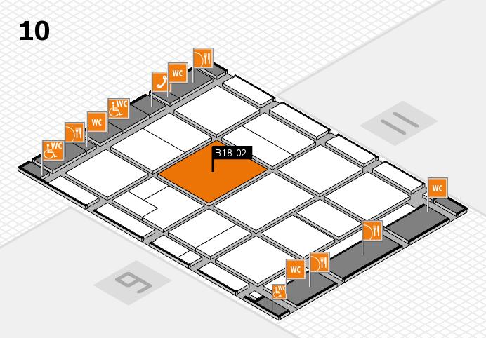 CARAVAN SALON 2016 hall map (Hall 10): stand B18-02