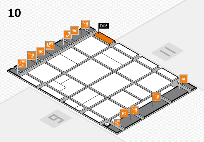 CARAVAN SALON 2016 hall map (Hall 10): stand D06