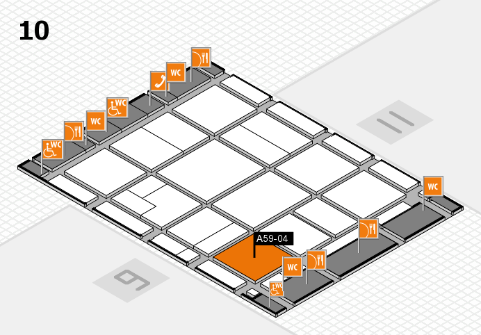 CARAVAN SALON 2016 hall map (Hall 10): stand A59-04